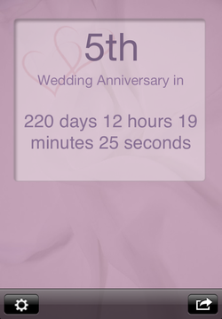 Wedding Anniversary App screenshot